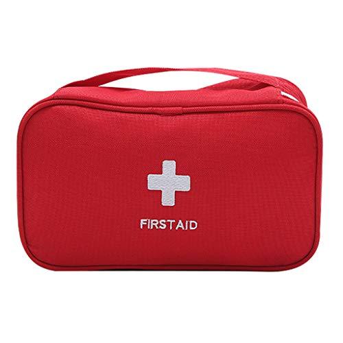 Ckssyao Erste-Hilfe-Set, tragbar, tragbar, mit großer Kapazität, feuchtigkeits- und staubdicht, zum Wandern, Camping, Auto, Arbeitsplatz, Büro oder zu Hause,Red