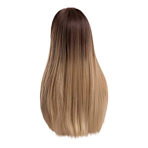 Barlingrock Brown-Steigungs-gerades Haar-Perücke-Art- und Weisedamen verdünnen Knalle und braune Höhepunkte mit dem lockigen - Kostüm Mädchen Mit Dem Braunen Haar