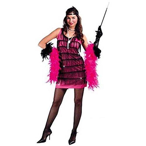 n Flapper Kleid für Damen in pink , Größe:L (1920er Pink Flapper Kostüme)