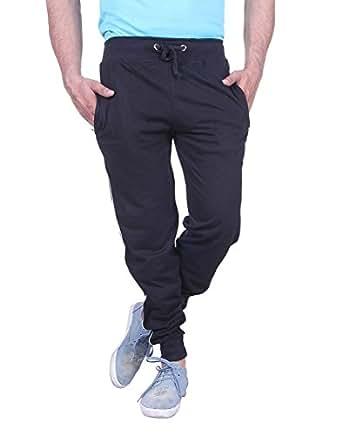 Thread Swag Men's Slim Fit Track Pant - Black (10XL)