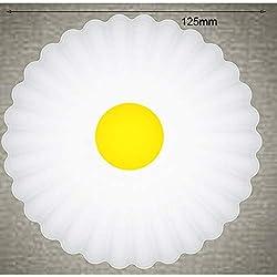 Heaviesk Control Remoto Luz Nocturna Pequeña Forma de Margarita Lámpara Lámpara de cabecera Inteligente Lámpara de Escritorio Universal LED Lámpara Duradera para el hogar