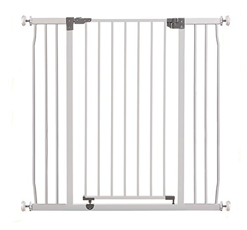 Dreambaby Liberty Xtra-Tall & Wide Safety Gate (Fits 99cm-106cm) White Dreambaby MEASURE YOUR OPENING BEFORE PURCHASING - This gate ONLY fits openings 99 to 106 cm. It will not fit any opening smaller than 99 cm. If your opening is larger than 106 cm you will require an additional purchase of an extension. VERSATILE AND DEPENDABLE- Our Dreambaby Liberty gate is loaded with features to not only help make your life easier but safer too. Versatile indeed, it can accommodate openings of 99 to 106 cm wide and is 93 cm tall. Using optional extensions sold separately, the gate can be extended up to 306 cm. ONE HANDED OPERATION - The One-Handed operation is fantastic for times when you're holding your child and the double locking feature ensures extra security to help keep your child safer. 1