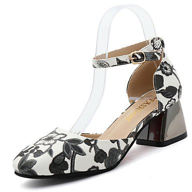 Comfort PU sandali estivi casuale tacco grosso con fibbia Arcobaleno Walking femminile,Arcobaleno,US6.5-7 / EU37 / UK4.5-5 / CN37 US8 / EU39 / UK6 / CN39