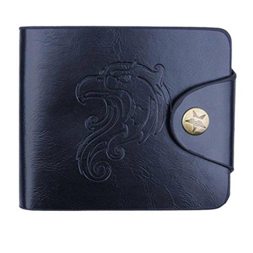 Preisvergleich Produktbild squarex Herren Bifold Business Leder Geldbörse ID Kreditkarte Halter Taschen schwarz schwarz AS Show