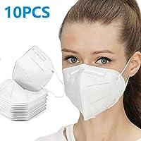 10 máscaras anticontaminación N95 máscara de filtración de Aire, Desechables, Antipolvo, con Cubierta Ajustable para la Boca para Deportes al Aire Libre, Fumar, Ciclismo, Viajes