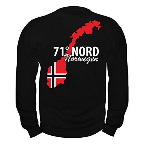 No Fight No Glory Männer und Herren Sweatshirt 71 Grad Nord NORWEGEN (mit Rückendruck) Größe S - 10XL