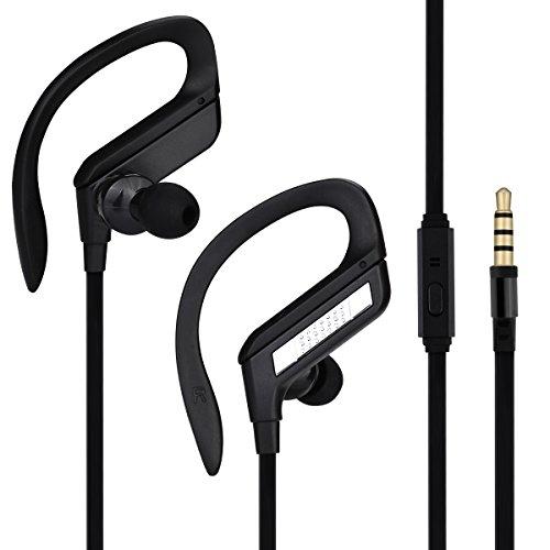Aita alta qualità cuffie intra-auricolari delle cuffie con microfono, ad alta fedeltà stereo basso potente, Annullamento di rumore Compatibile con Android e iPhone, 3.5mm Jack metallo (J164-Black,