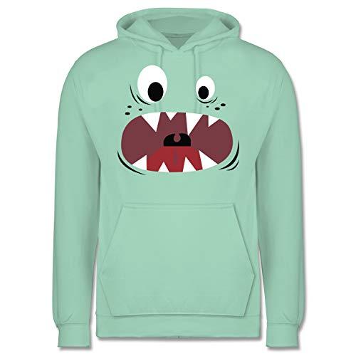 Karneval & Fasching - Monster Kostüm Gesicht - M - Mint - JH001 - Herren Hoodie (Herren Monster Kostüm Hoodie)