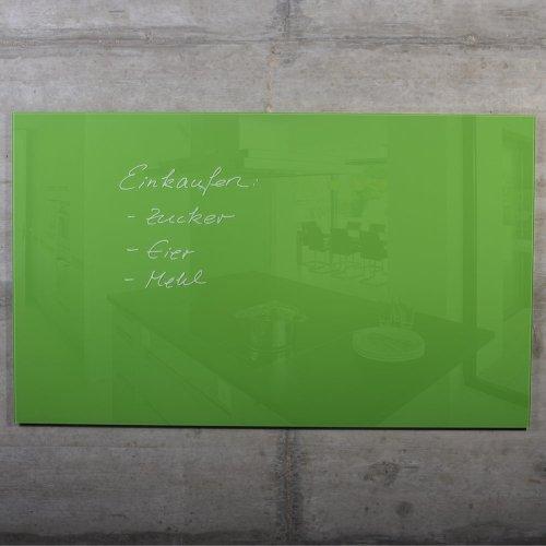 glas-magnettafel-max-100x60-cm-grun-inkl-5-magnete-magnetboard-magnetwand-memotafel