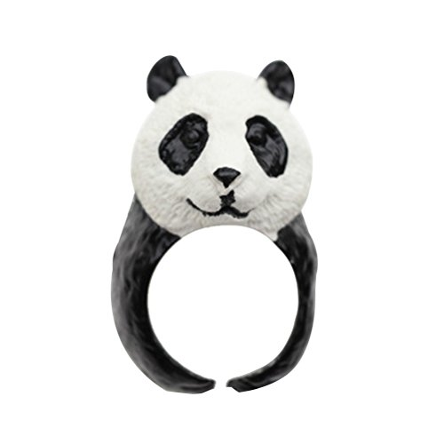 Toyvian Anillo de Panda de Resina Realista Joyería para Niños Juguete Regalo Ideal para Niños Halloween Navidad (Panda)