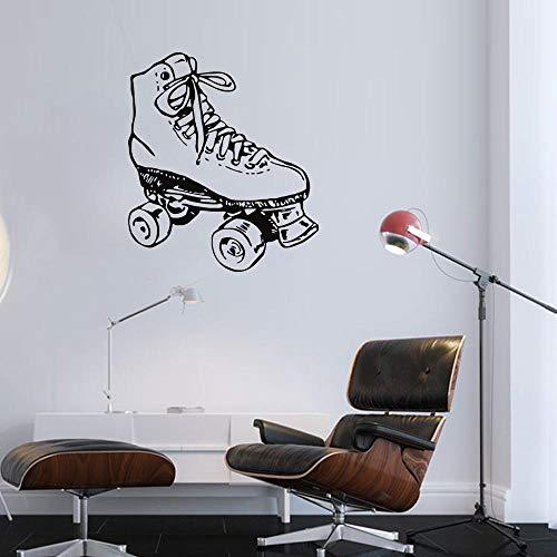 Ambiguity Pegatinas de Pared Patinaje Artístico Sobre Hielo Pared Creativa Zapatos albergue Viven Decorativo Pared engomada 57 * 45cm