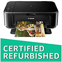 (CERTIFIED REFURBISHED) Canon Pixma MG3670 All-in-One Inkjet Wireless Printer (Black)