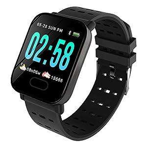 Nicololfle Bluetooth Smart Watch Waterproof IP68 Fitness Tracker Watch with Heart Rate Monitor Pedometer Sleep Monitor Stopwatch