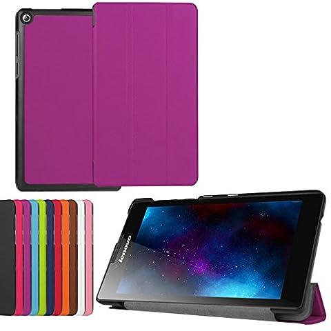 SZHTSWU® für Lenovo Tab2 A7-20F Hülle, Ultra Dünn PU Leder Shell Tablette Case Schutzhülle Flip Leder Tasche mit Ständer Etui für Lenovo Tab 2 A7-20 (7 Zoll) Tablet-PC