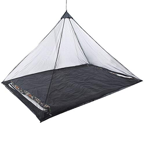 Happy Event Reisezelt Outdoor Campingzelt Sommer Ultra Light Mesh Netzabweisend Netzzelt Schutz für Survival Travel Outdoor (Schwarz)