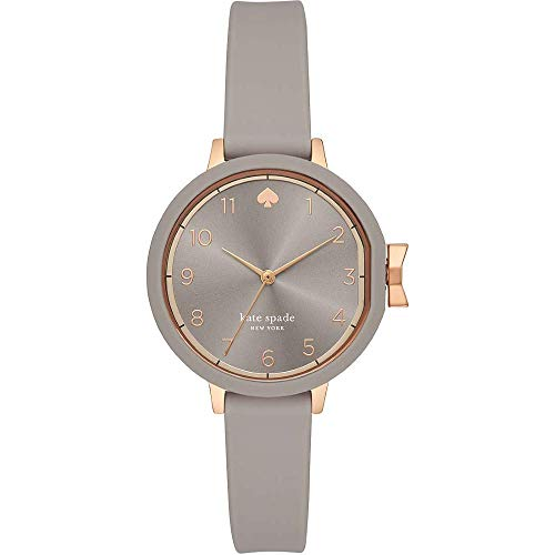 Reloj para Mujer Kate Spade con Correa de Silicona Gris y Esfera Gris KSW1519