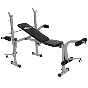 TecTake Folding Weight Bench with Leg Unit and Fly Attachment
