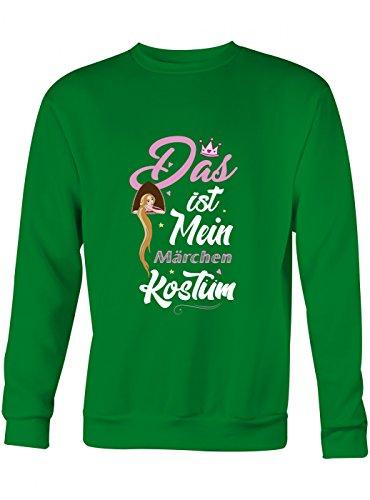 idung Märchen Premium Sweatshirt | Kostüm | Karneval | Fasching | Unisex | Sweatshirts, Farbe:Hellgrün;Größe:M (Grünen Kostüm Ideen Für Tag Des Sports)
