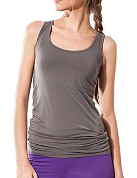 Sternitz Camiseta Sin Mangas Fitness Para Mujer, Maya Top, Tela de Bambú - Ecológica y Suave - Perfecta Para Yoga...