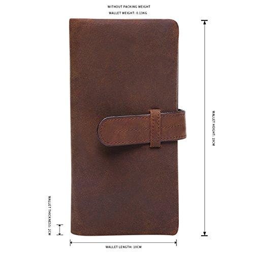 JOYIR  529,  Herren Geldbörsen red brown color