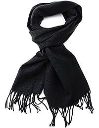 Foulard d'hiver unisexe à couleur unie à bouts effilochés, doux comme du cachemire. Produit offert par NYfashion101.