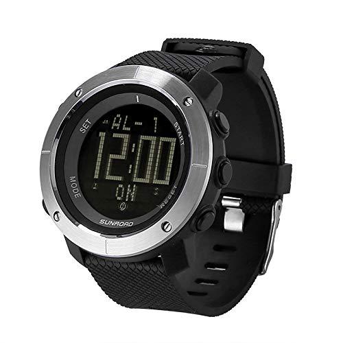 Sunroad FR1001 3ATM Wasserdichte Outdoor-Armbanduhr mit Weltzeit, Countdown, Stoppuhr, Hintergrundbeleuchtung, Wecker