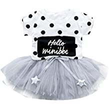 d17863b72 Amlaiworld Vestidos de Fiesta de bebés niña Falda de Tul de Manga Corta de  Punto de