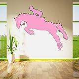 Zaosan Rennstrecke Pferd Tapete Jump Show Pferd Jockey Jockey Club Vinyl Wandkunst Aufkleber Wandbild138cmX114cm