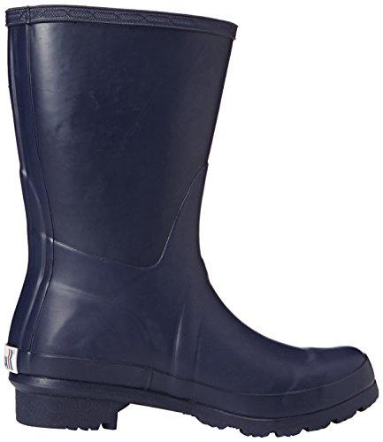 ROMIKA Romirub 01, Bottes en caoutchouc de hauteur moyenne, non doublées femme Bleu - Bleu (500)