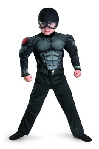 Disguise G.I. Joe Retaliation Snake Eyes Muscle Chest Kost-m Kind 4 - 6