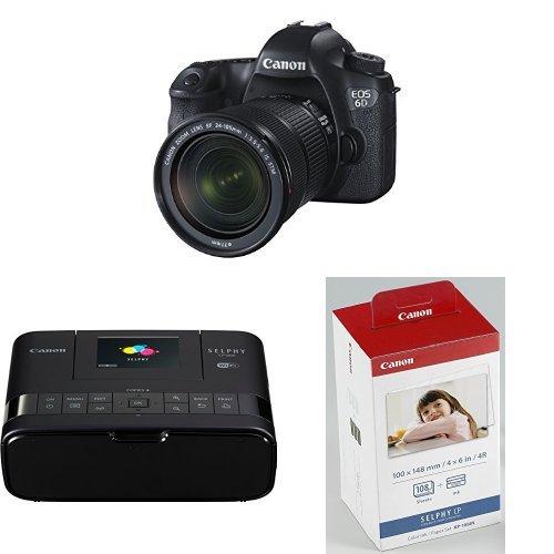 Galleria fotografica Canon EOS 6D Fotocamera Reflex Digitale con Obiettivo EF 24-105mm f/3.5-5.6 IS STM, 20 Megapixel, Ne + Canon Selphy CP1200 Stampante Fotografica Compatta, 300x300 DPI, Nero/Antracite + Canon KP-108IN Carta fotografica (108 fogli 10x15 cm) e cartuccia colore per stampante Selphy