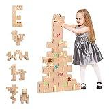 GIGI Blocks GI-G-7 30 Pieces Large Christmas, Multi-Colour