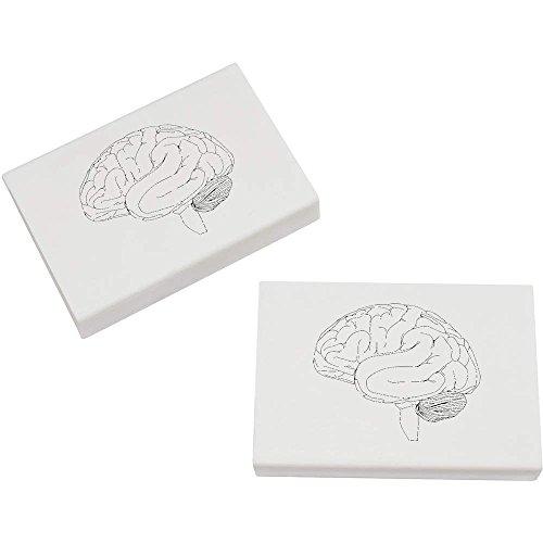 (Azeeda 2 x 45mm 'Menschliches Gehirn' Radiergummis (ER00004821))