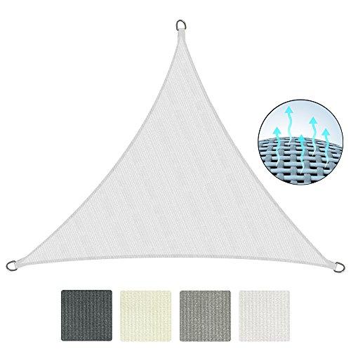 Sol Royal Tenda a Vela Traspirante 300x300x300 cm SolVision HS9 - Protezione Triangolare Parasole e Anti UV - Bianco