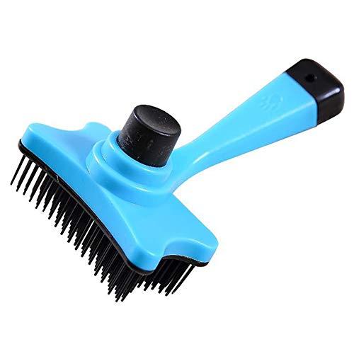 Trifycore Kreative Pet Grooming Pinsel Hund Reinigung Slicker bewegliches praktisches Haustier Dematting Werkzeug Blau, Kleiner Haustierbedarf -
