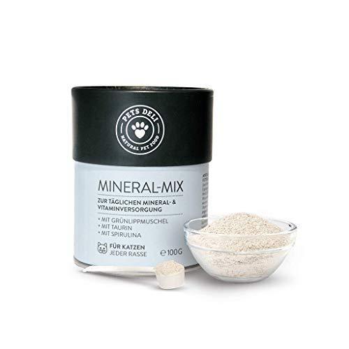 Nahrungsergänzung für Katzen 100 g | Premium-Qualität | Mineral-Mix mit Grünlippmuschel-Pulver und Taurin | reich an Nährstoffen | 100{55e1b2140e786f6898954b9766e09a6a90ad58f1da9df34f0ad1d1921e771090} Lebensmittelqualität, versorgt mit Mineralien & Vitaminen