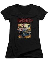 Harbinger - Frauen mit V-Ausschnitt T-Shirt Weinlese-