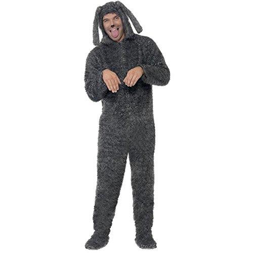 Smiffys Unisex Kostüm Flauschiger Hund Hundekostüm Karneval Fasching Gr.L