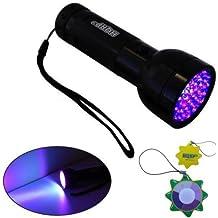 HQRP Torcia eletrica professionale 51 UV 390 nm LED a raggi ultravioletti