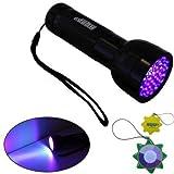 HQRP Professional 51 UV 390 nM LED Blacklight / Flashlight
