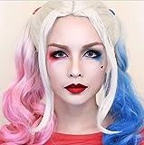 Oitio Short 40cm cute clown Baby Hair donne per tutta la testa per cosplay con parrucca