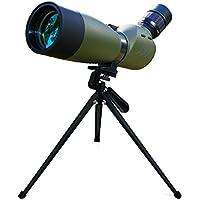 Svbony SV-29 Telescopio Impermeable de 20-60 x 60 Zoom Multicapa de Recubrimiento Prisma BAK4 con TR¨ªpode Ideal para Viajar,Acampar y Observaci¨®n de Aves (Verde del Ej¨¦rcito)