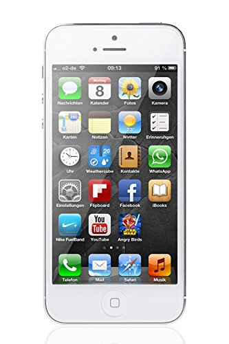"Apple iPhone 5, 4"" Display, SIM-Free, 64 GB, 2012, Weiß (Generalüberholt)"