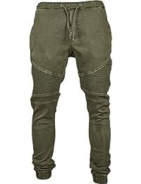 Urban Classics Herren Hose Biker Denim Joggpants
