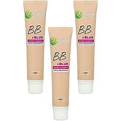 SkinActive - BB Crème + Blur Claire - Soin miracle perfecteur + base correctrice lissante - Ptiparis Lot de 3