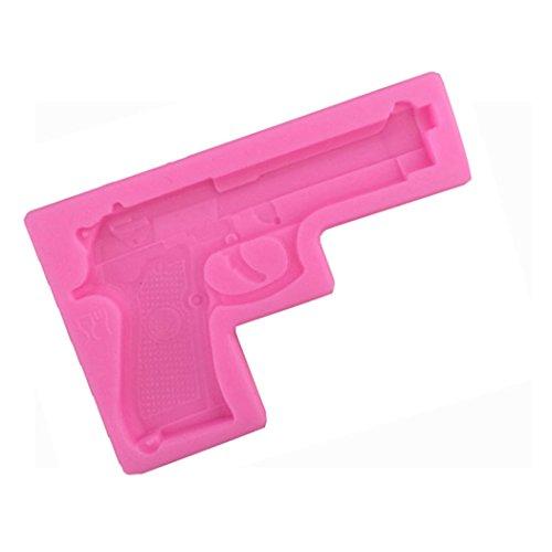 dreamflying Gun Pistole Form Silikon Schokolade Fondant Kekse Kuchen dekorieren Backform–Pistole