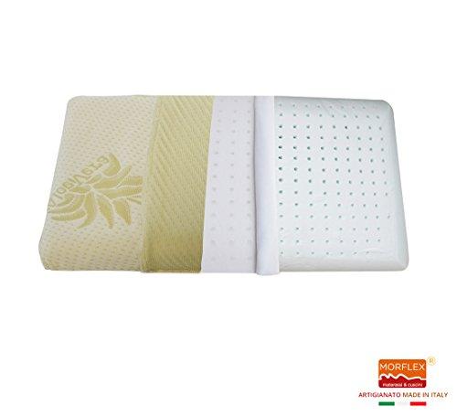Morflex® - cuscino per bambini traspirante 30 x 46 x 6 in memory sfoderabile in aloe vera certificato oeko-tex® - per lettino e culla - baby produzione artigianale italiana