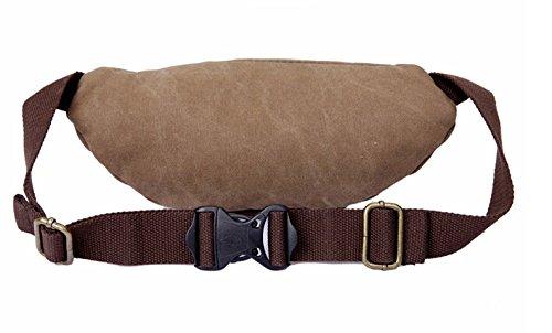 Leinwand Fanny Pack Travel Gürteltasche Hip Handtasche Gürteltasche Bauchtasche Taille Tasche Ideal für Reisen oder den täglichen Gebrauch coffee - coffee