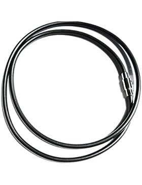 Kautschukhalsband 3mm, Halskette, Kautschukband mit rostfreiem Magnet-Bajonetverschluss aus Edelstahl,KHB 103,...