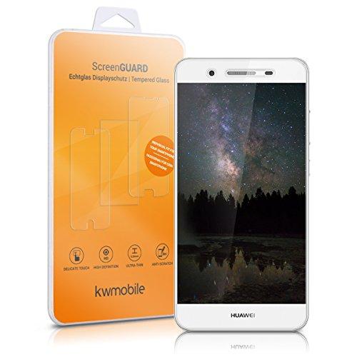 kwmobile Huawei GR3 / P8 Lite SMART Folie - Glas Handy Schutzfolie für Huawei GR3 / P8 Lite SMART - Full Screen Display Schutz